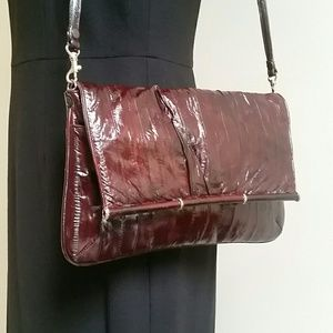 Vintage Eel Skin Clutch or Shoulder Bag